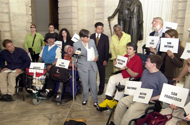 photo of the July 23rd Accessible Taxis Press Conference