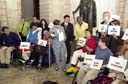 click for description and to enlarge photo of the Accessible Taxis Press Conference