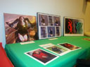 photo of table showing art work featuring Nadina LaSpina