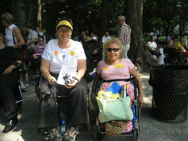 larger photo of Disabled In Action members Jean Ryan and Carr Massi