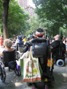 photo of the back view of several people at the ADA rally