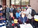 photo of Disabled In Activists waiting for the start of the press conference
