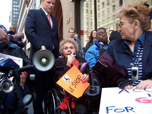 larger photo of Disabled In Action 2006 president Carr Massi speaking