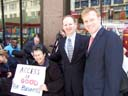photo of Jean Ryan and two of the lawyers representing Disabled In Action