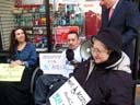 photo of Ramon Santos of CIDNY speaking on need for accessibility