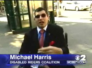 Picture from WCBS TV of Michael Harris